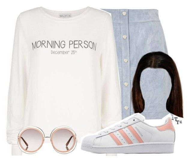 """""""Title this"""" by triple-threat36 ❤ liked on Polyvore featuring River Island, Wildfox, Chloé and adidas Originals"""