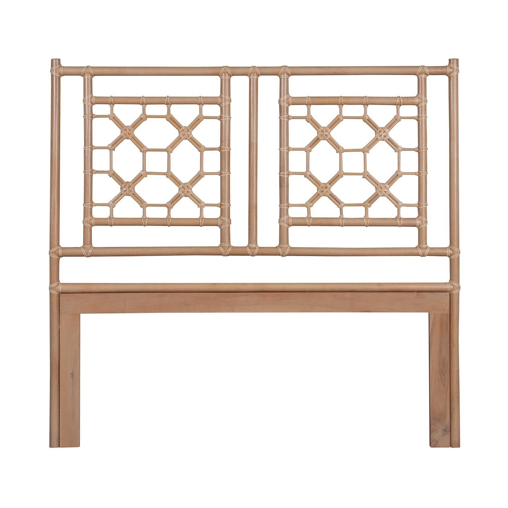Crafted Home Grover Natural Modern Lattice Queen Headboard (Grover-62-Q)