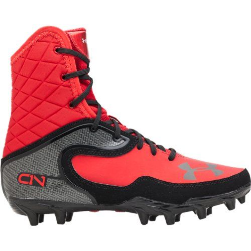 black and red under armour cleats