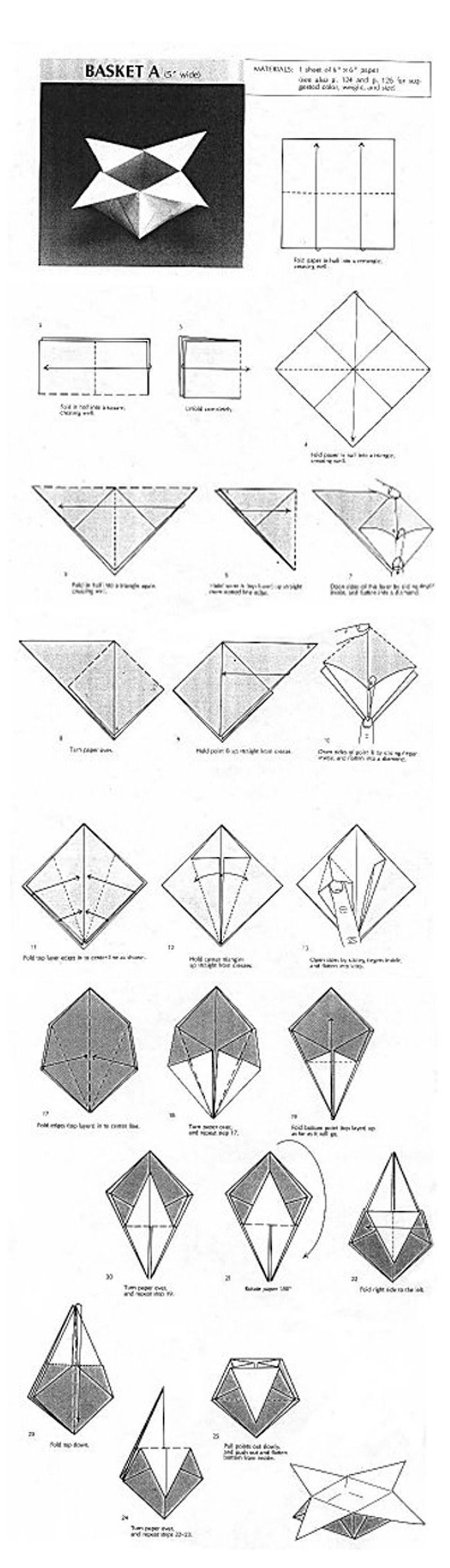 Boite Origami Pour Les Sables De Noel Origami Origami Origami
