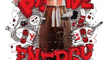 Positive Energy. Coca-Cola. #cocacola #typography #font