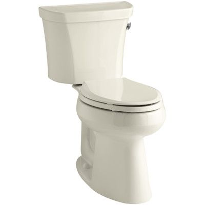Kohler Highline Comfort Height Two-Piece Elongated 1.28 GPF Toilet with Class Five Flush Technology, Right-Hand Trip Lever and Insuliner Tank Liner...