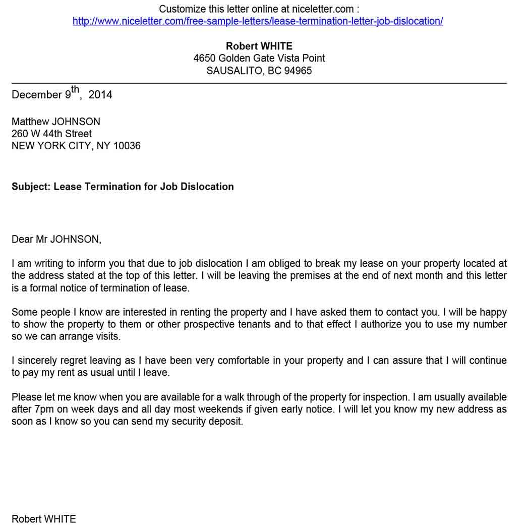 Ways To Write Good Lease Termination Letter Lettering Lease