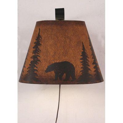 Coast Lamp Mfg. Bear 1 Light Wall Sconce