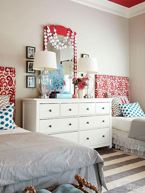 Creative Teen Bedroom Design: Pretty Headboard Decorating Ideas