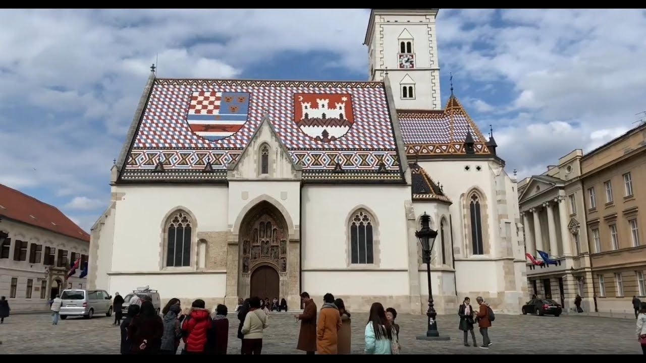 This Is Saint Marks Church In Zagreb Its 1 Of The Top 10 Tourist Sites Eric Clark S Travel Videos Zagreb Cro Zagreb Croatia Travel Videos Tourist Sites