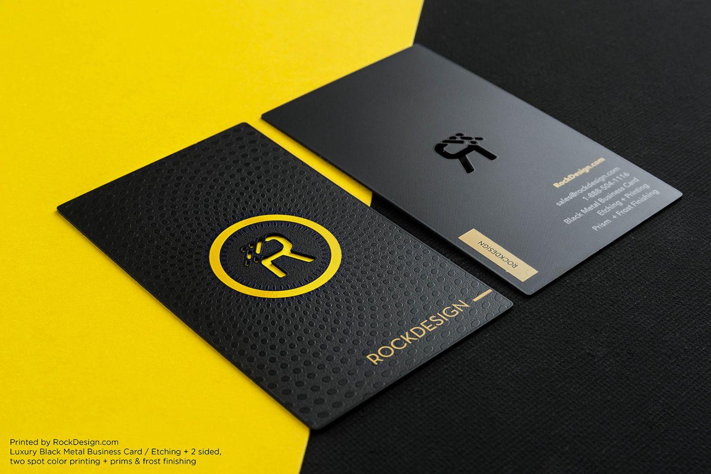 Luxury Black Metal Business Cards | Membership Metal Card ...