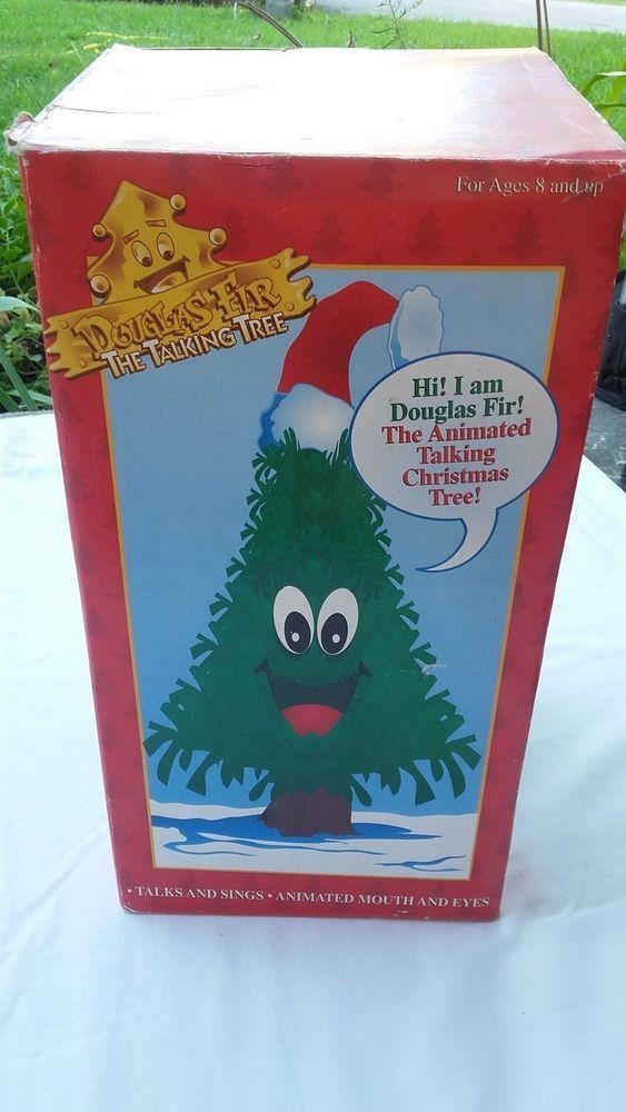 947e8f21d3dab NEW Douglas Fir Talking Singing Animated Christmas Tree Mouth   Eyes Move…
