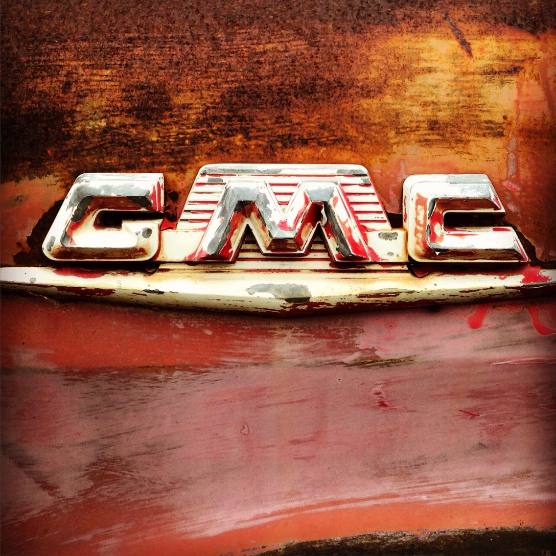 Gmc Fender Emblem On On Old Rusty Beer Truck Beer Truck