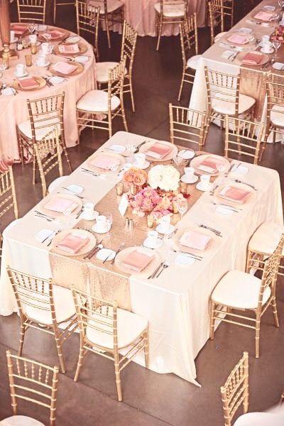 Peach Wedding Decor Old Rose Theme Summer Centerpieces Gold