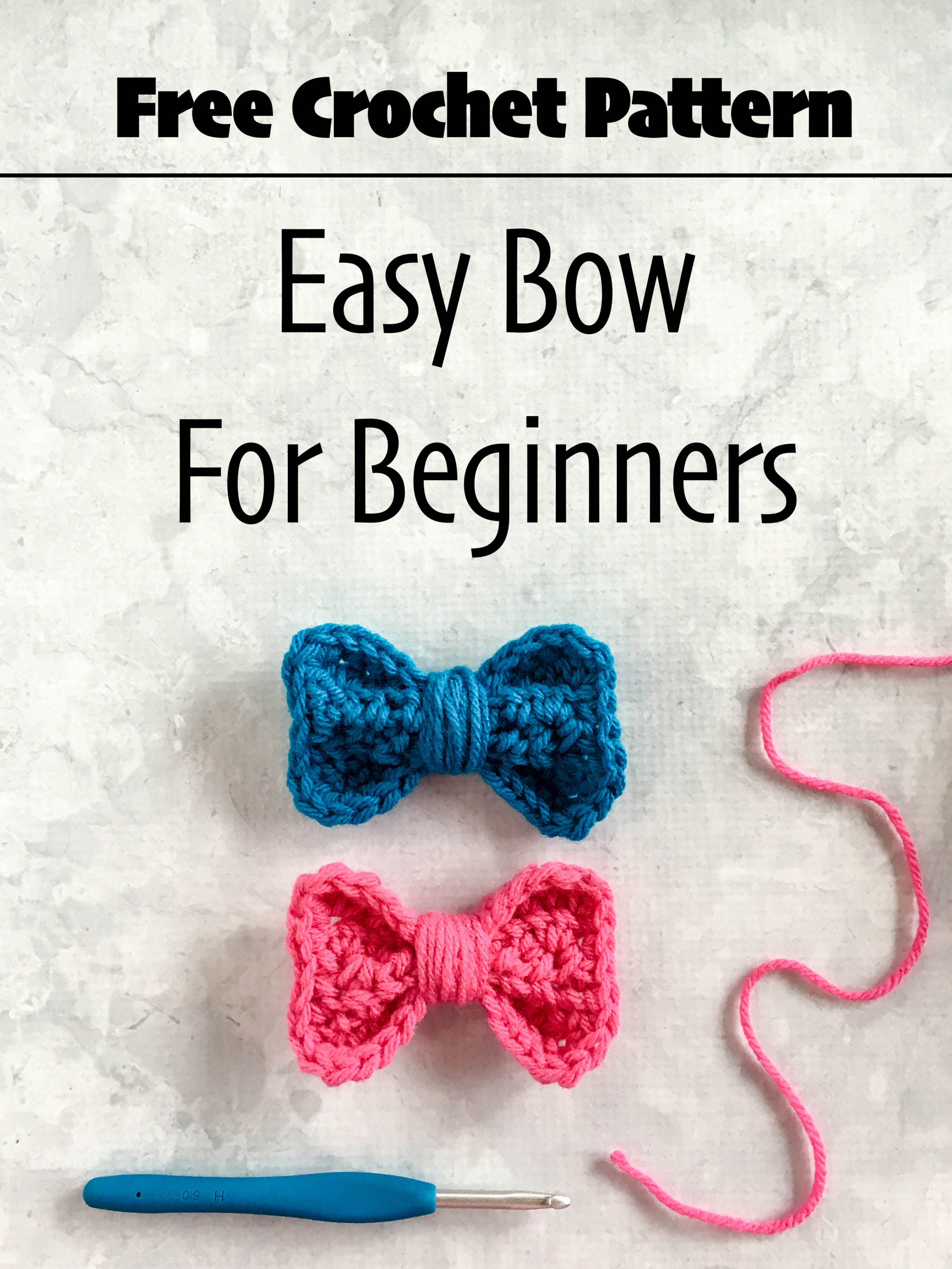 Crochet Bow Embellishment - Free Pattern