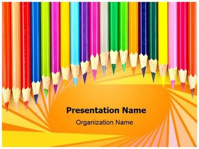 Check out our professionally designed Color #Pencil #Art #PPT - summer powerpoint template