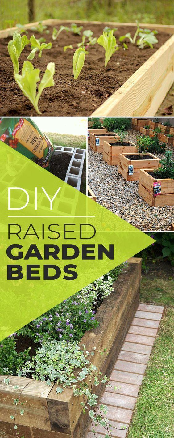Diy raised garden beds u planter boxes crafts pinterest garden