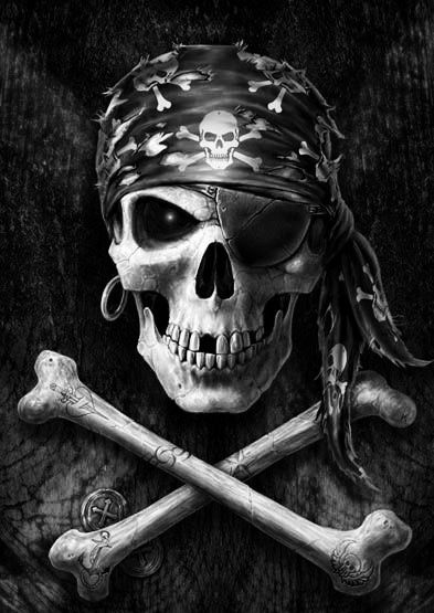 Calavera pirata fondo pantalla
