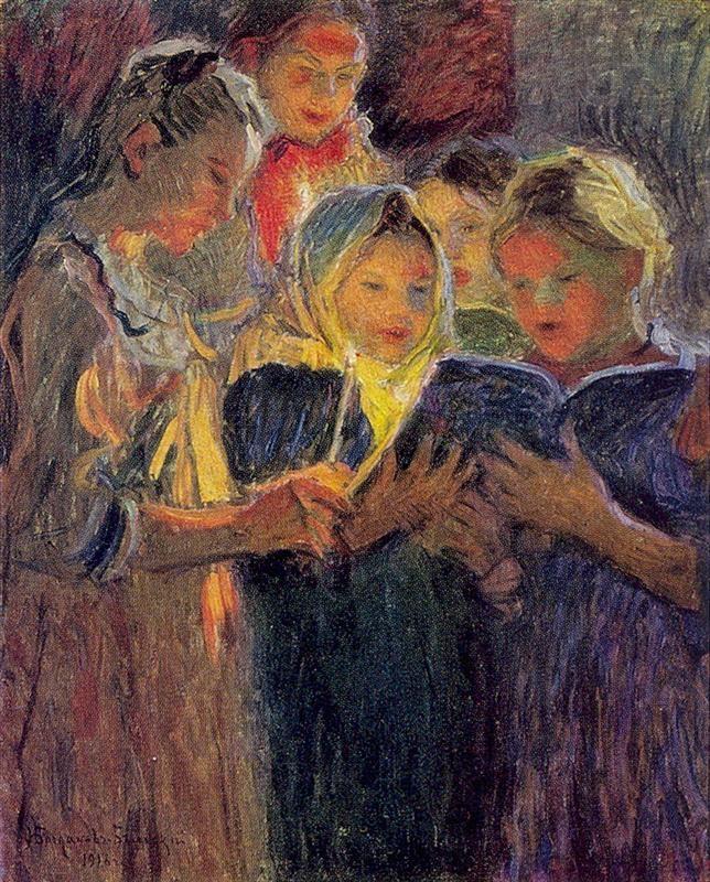 Girls Chorus, 1916 Nikolay Bogdanov-Belsky