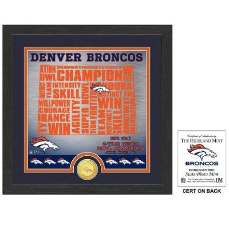 The Highland Mint Denver Broncos ''State'' Bronze Coin Photo Mint