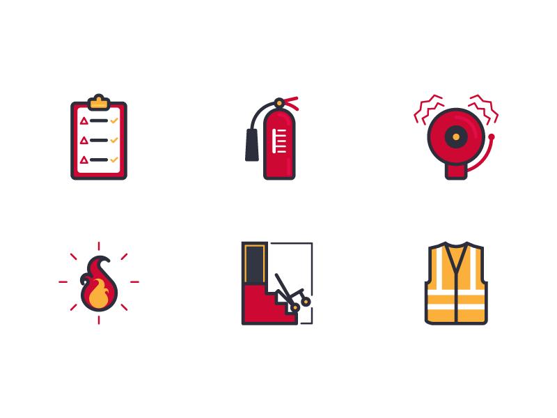 Fire Safety Icon Set Icon Set Icon Set Design Icon