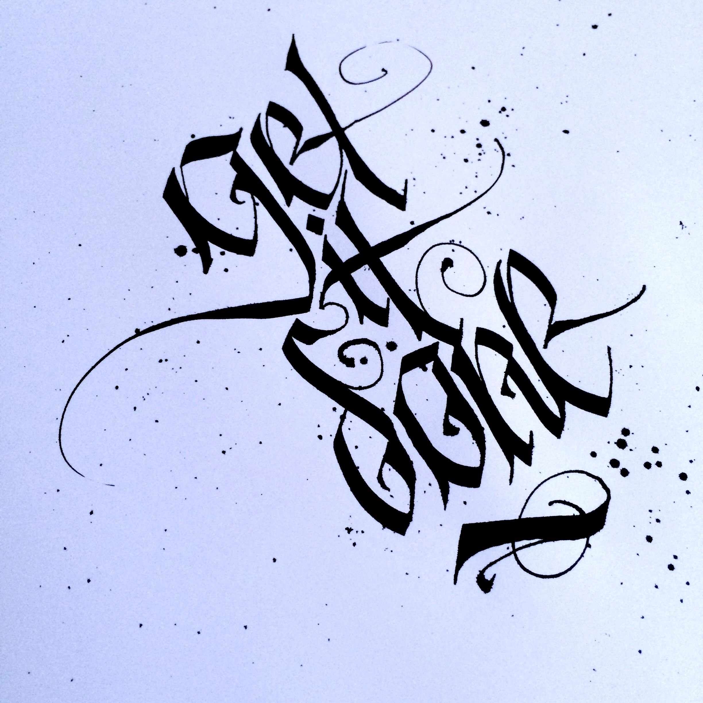 By Seventyfive Andrew Kelly  Typos    Calligraphy
