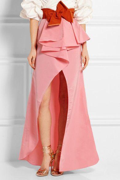 Johanna Ortiz | Petal ruffled silk-faille skirt | NET-A-PORTER.COM