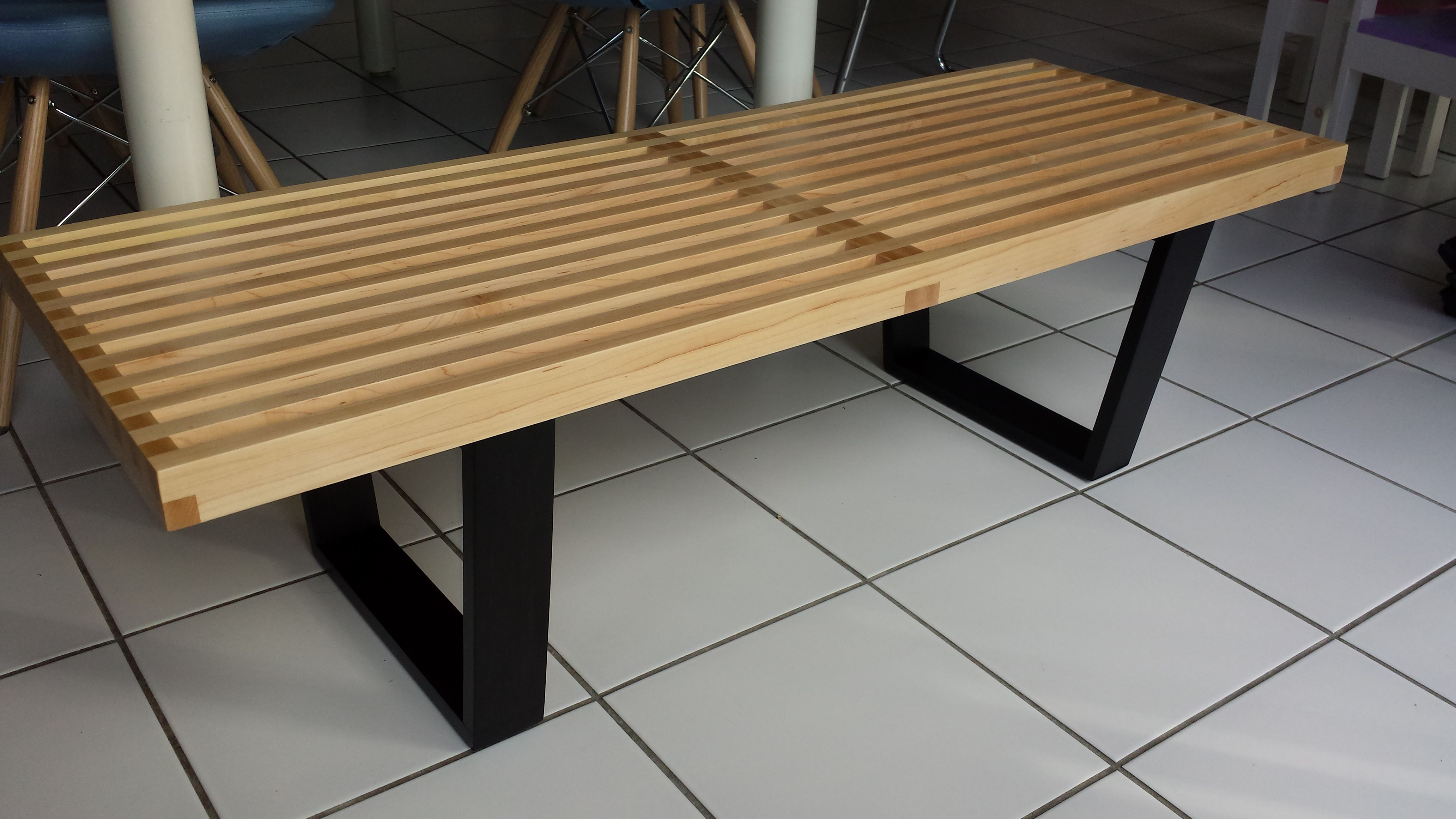 My Maple Nelson Bench Built Using A Ridiculous Upside Down Box Joint Jig And A Cheap Circular Saw The Project That Got M Nelson Bench Box Joints Box Joint Jig