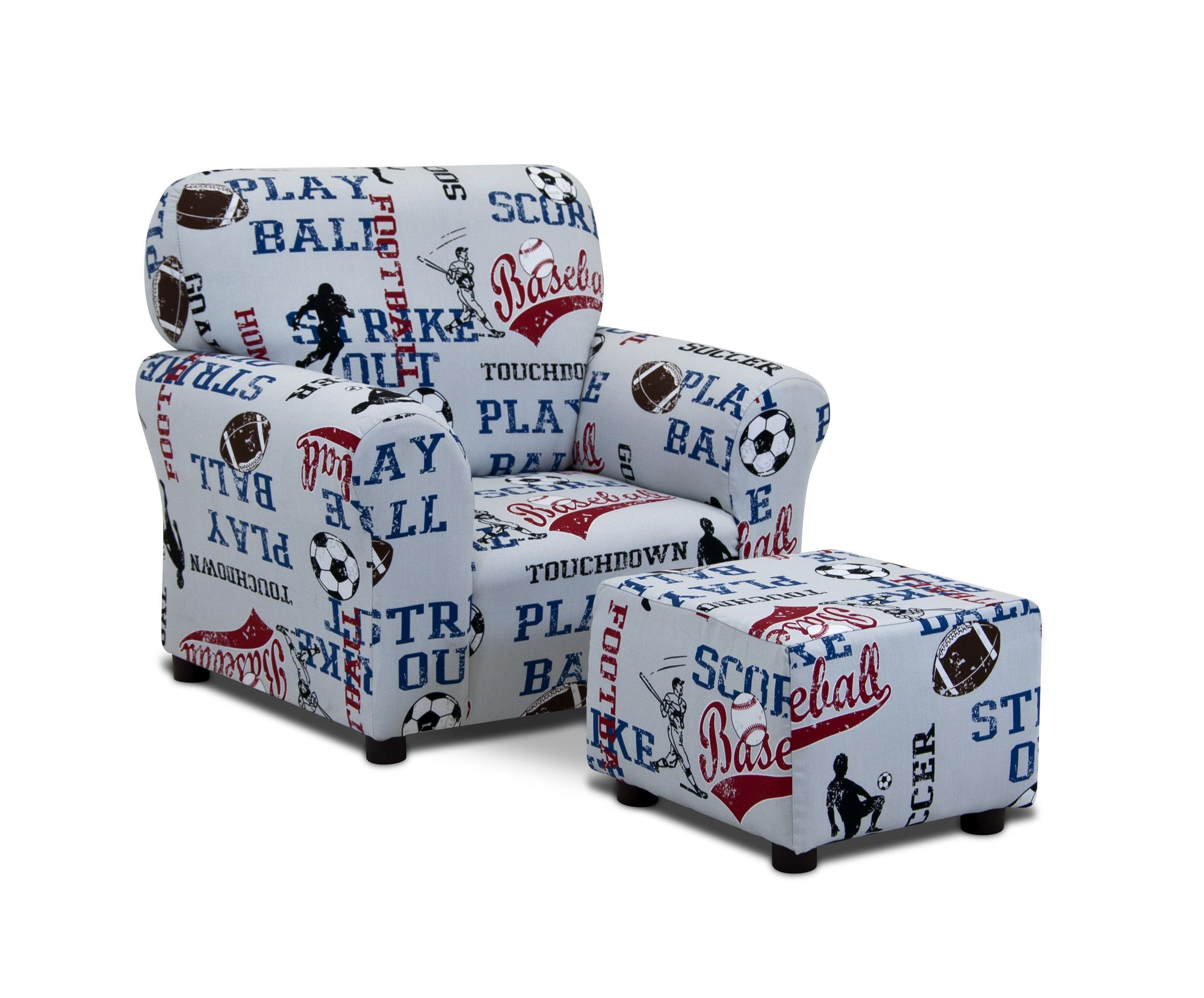Kids Sports Club Chair and Ottoman Products Pinterest
