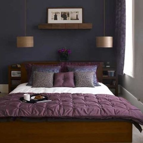 Violet Nuance For Bedroom Ideas Pendant Lamp For Couple Bedroom