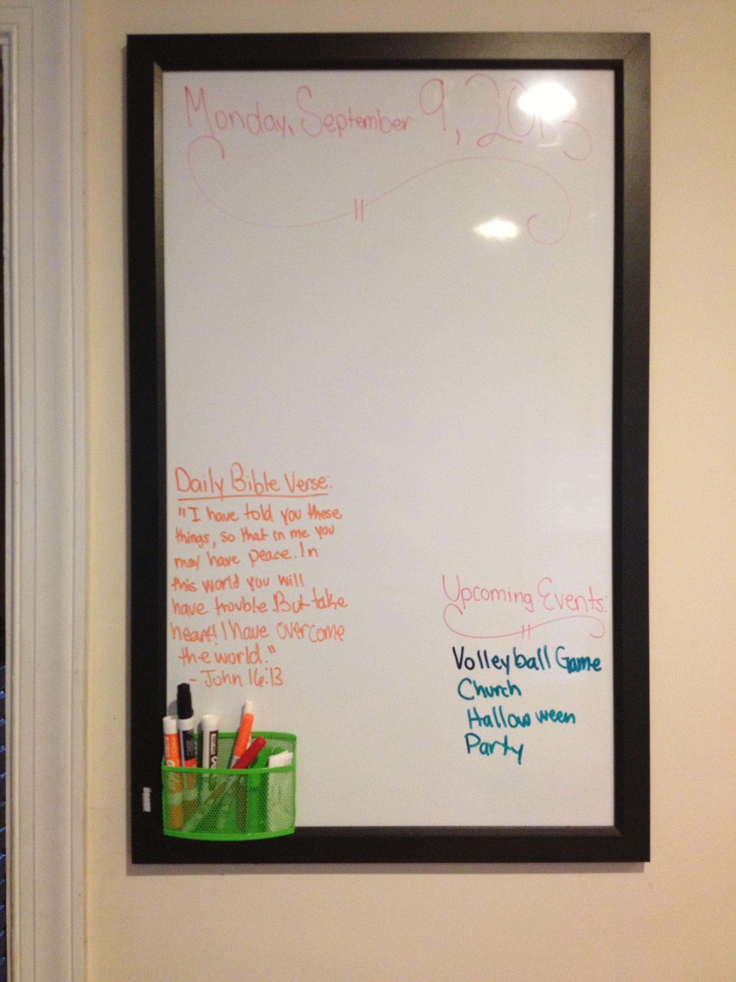 Whiteboard Ideas Start Planning White Board Dry Erase Board