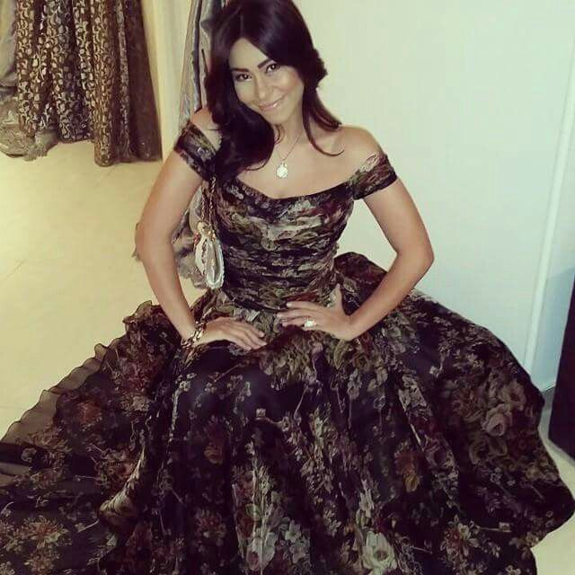 Sherine Abdel Wahab Dress Black Gold Fashion Egyptian