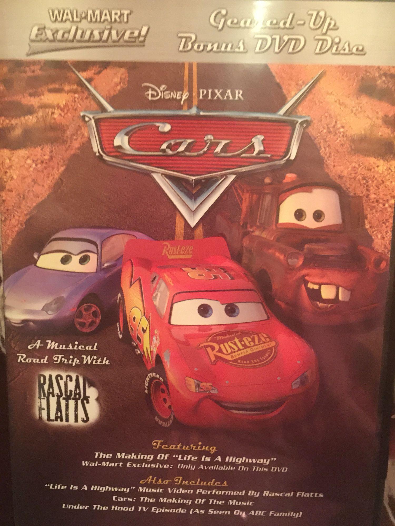 Walmart Exclusive Geared-up bonus DVD Disc Cars (2006