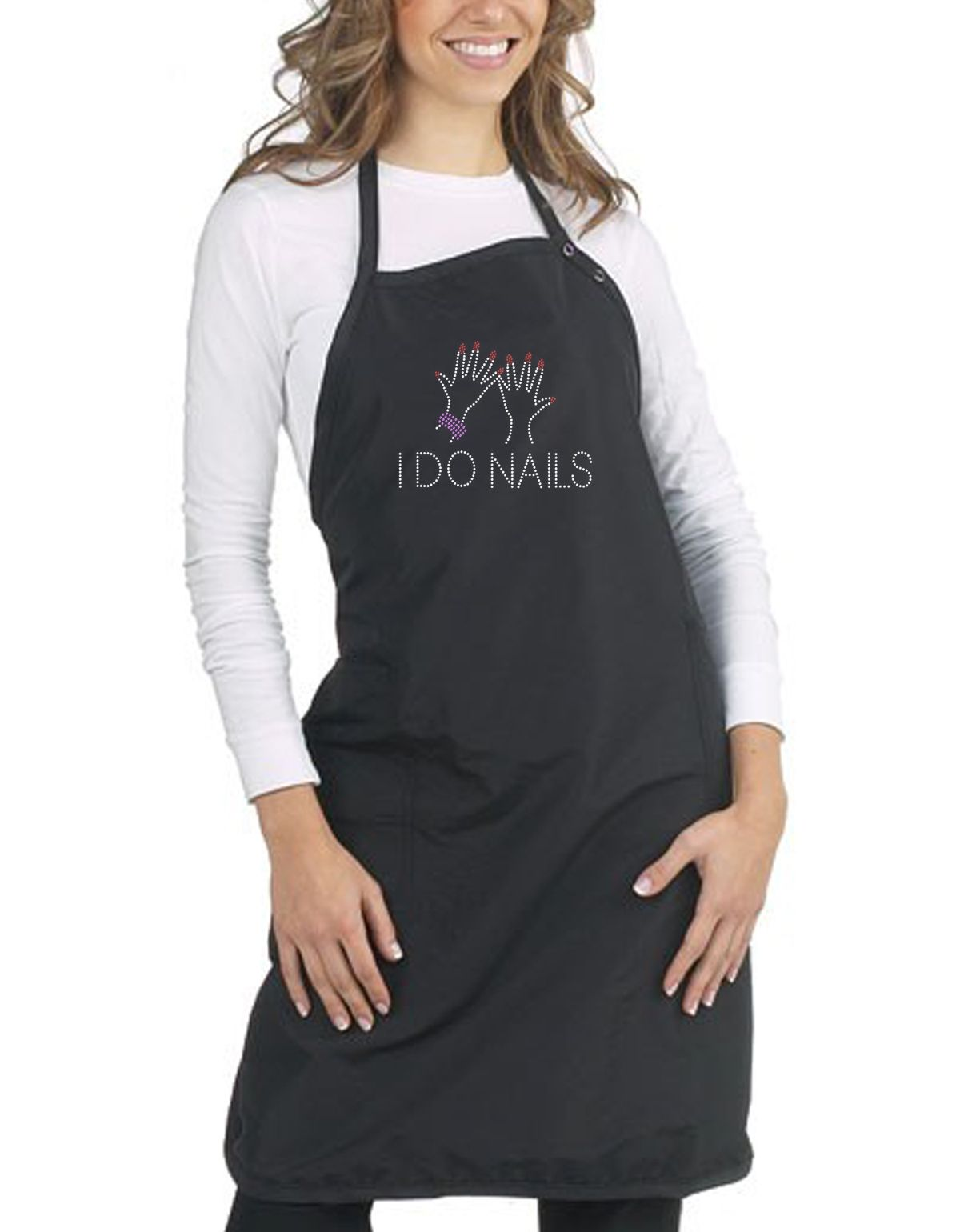 Personalised Apron/Tunic Beauty Therapists, Hairdresser