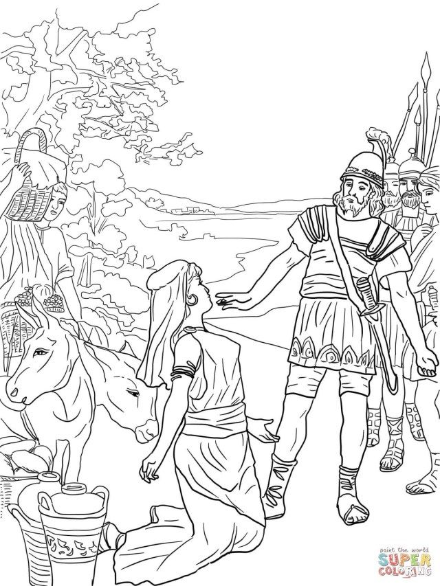 Creative Picture Of David And Jonathan Coloring Page Printable