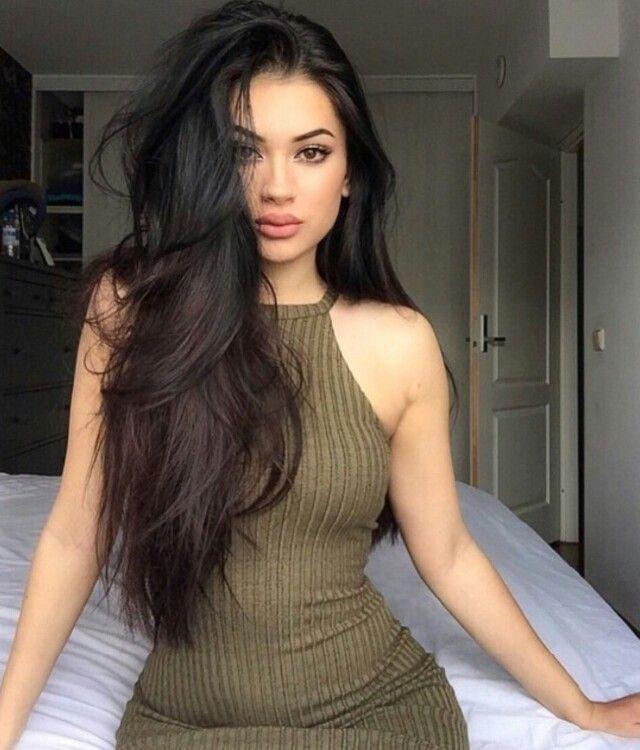 Black hair latina