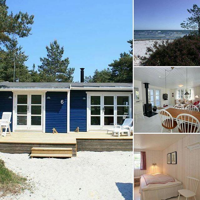 Haus direkt am Strand... ♥ #dänemark #urlaub #bornholm #strandhuis
