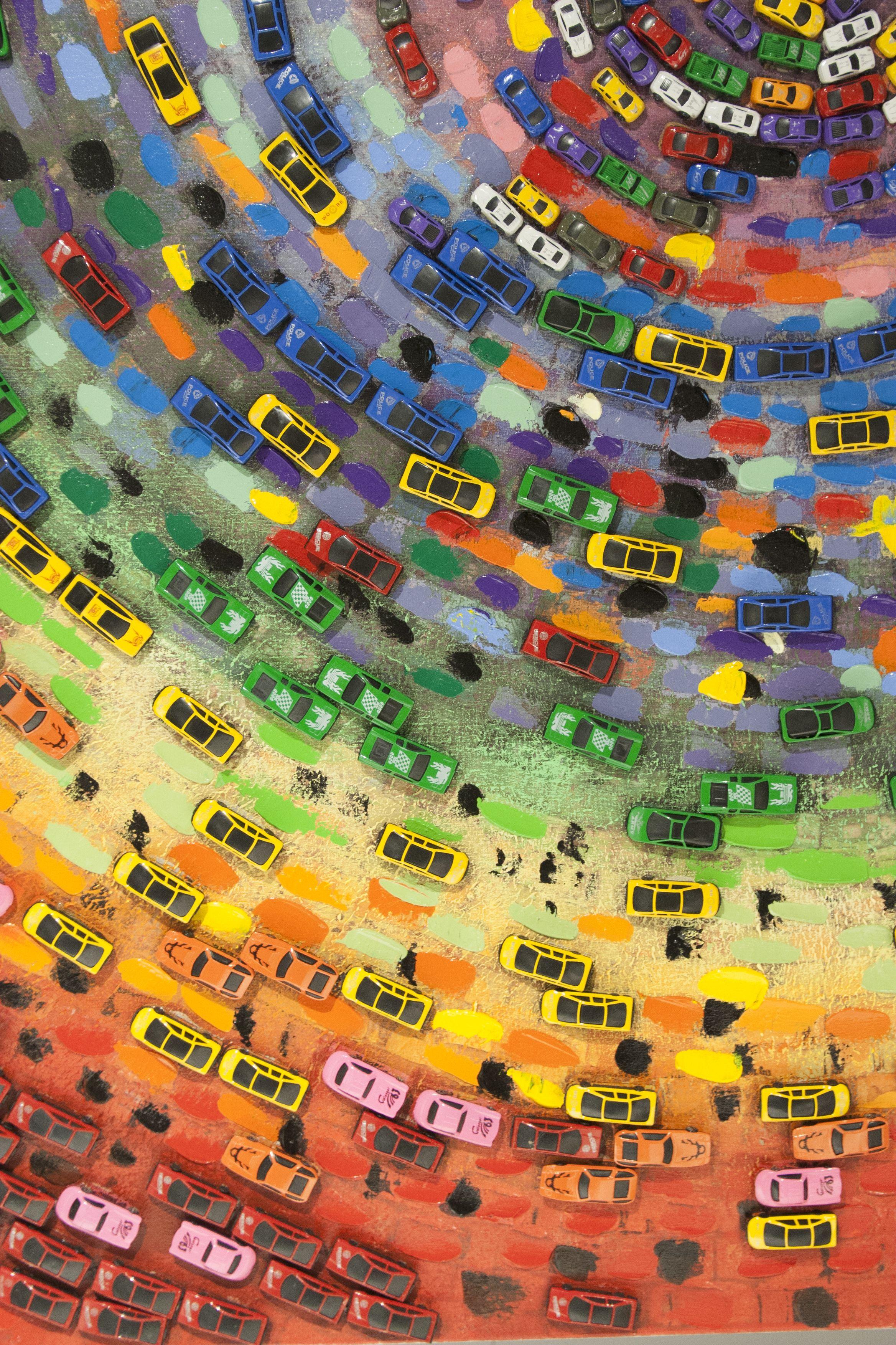 Broem veel auto 39 s op dit kleurrijke schilderij diy pinterest handwerk decoratie en - Schilderij slaapkamer kind ...