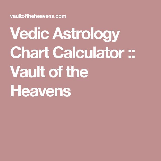 Vedic Astrology Chart Calculator Vault Of The Heavens Astrology