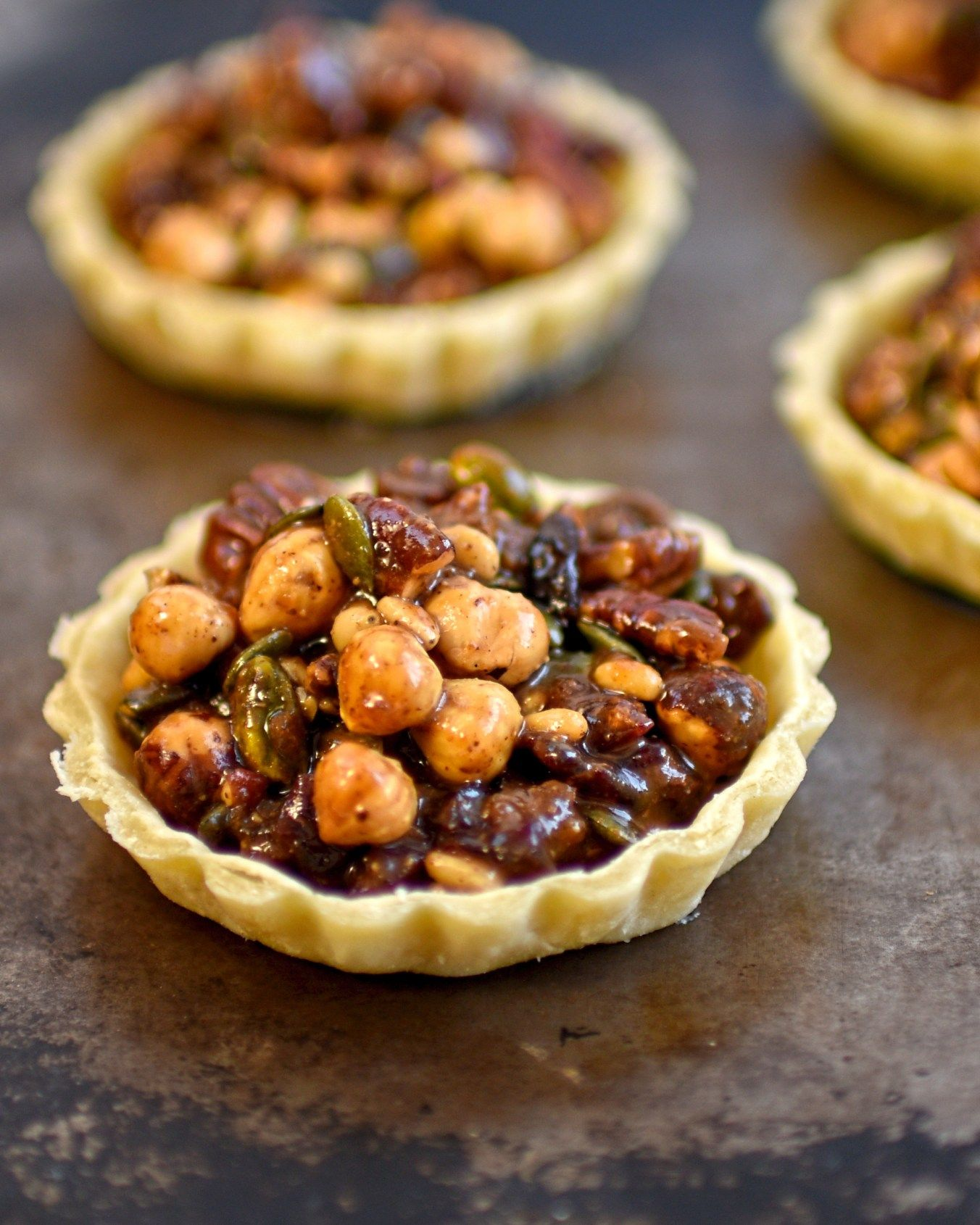 Pumpkin Seed Cranberry And Nut Tartlets Food Pumpkin Recipes Dessert Vegetarian Recipes Easy