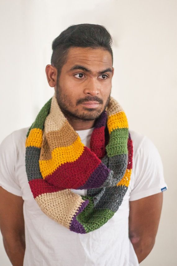 Doctor Who 12th Season Infinity Scarf Cowl 6 ft long 4th Doctor Tom ...