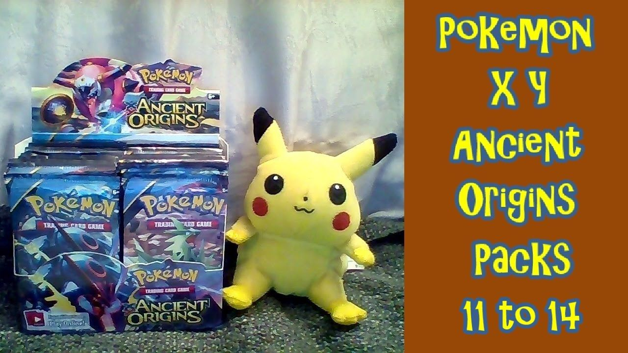 Pokemon XY Ancient Origins Opening packs 11 to 14. Two children of the 80's reliving the 90s by opening up Pokémon cards from the XY Ancient Origins set.