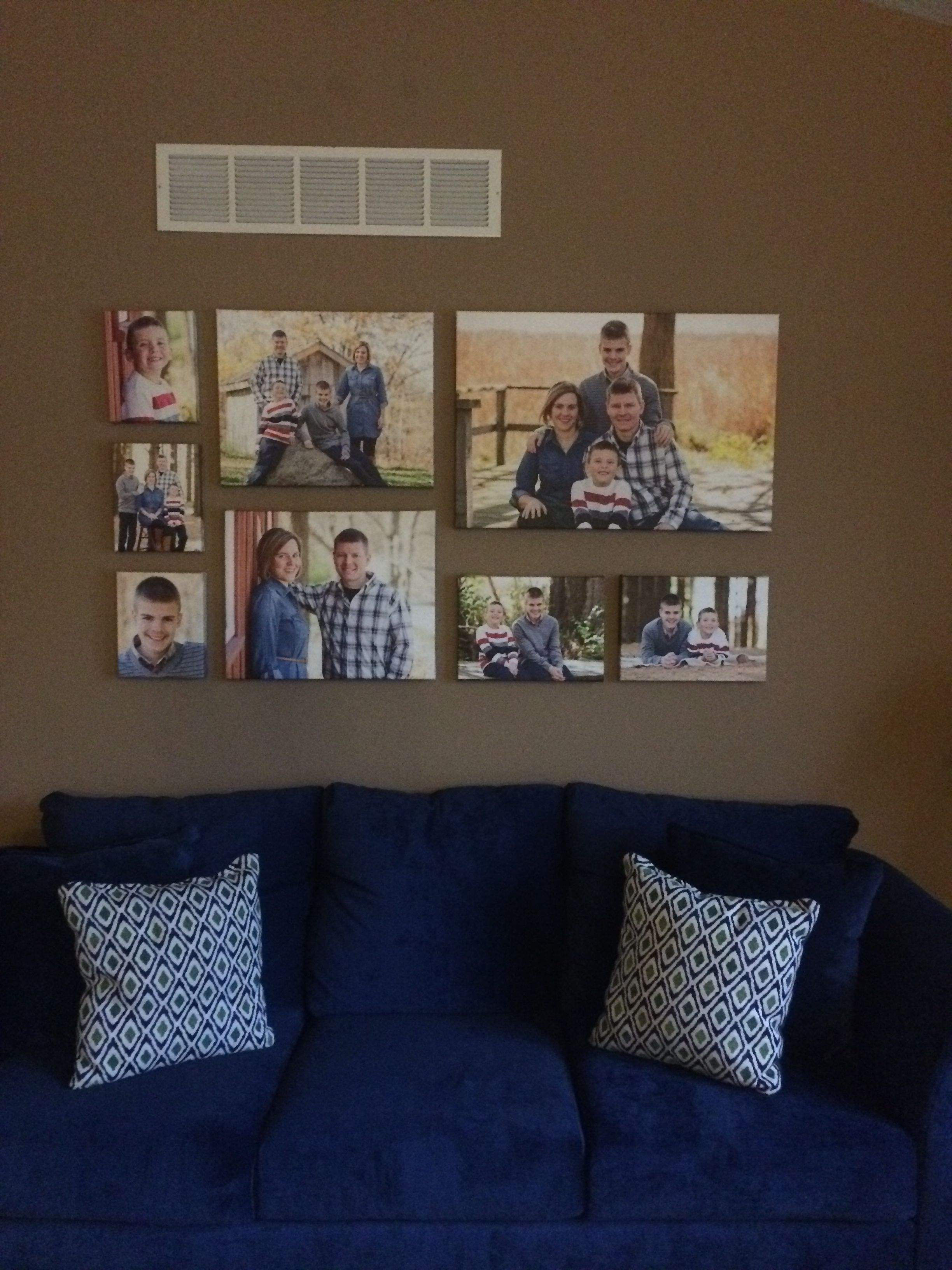 My gallery wall. Canvases ordered from shutterfly. I used one 20 X ...