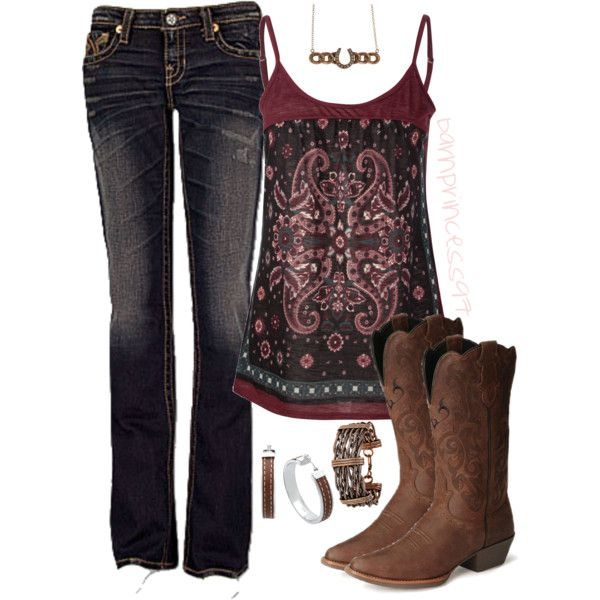 Justin Stampede Boots Clothes Country Style Outfits