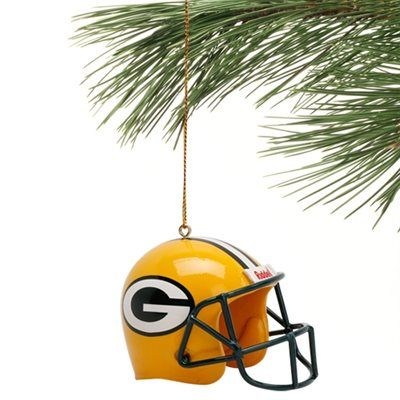 Green Bay Packers Helmet Ornament - Gold | So want | Pinterest