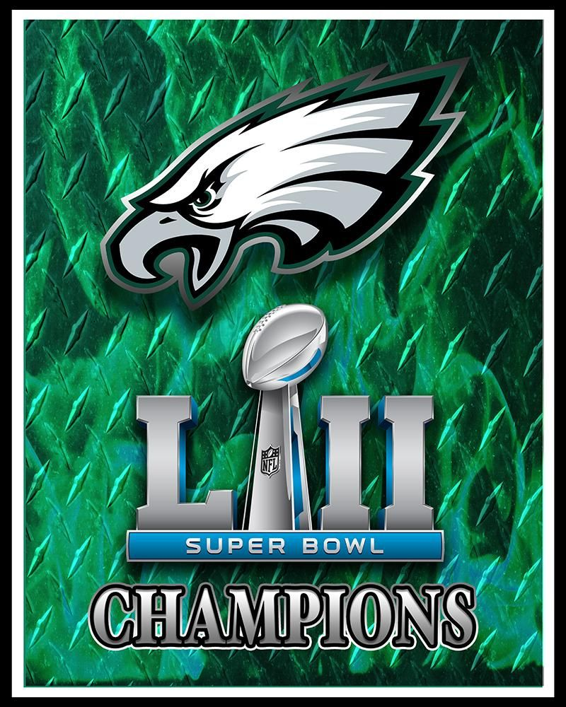 philadelphia eagles super bowl championship 2018 poster philadelphia eagles artwork nfl nfc. Black Bedroom Furniture Sets. Home Design Ideas