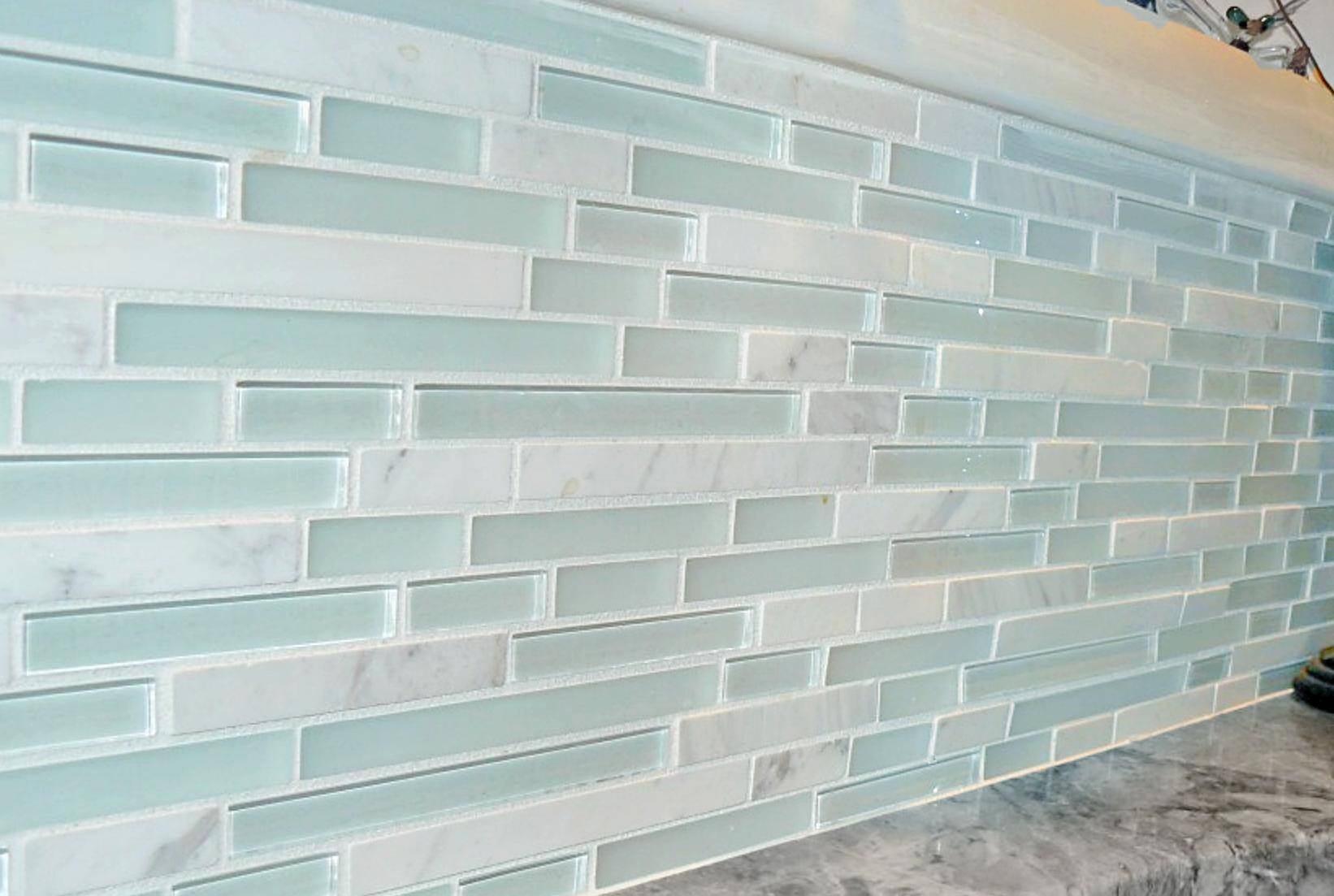 Classical Beach House: Sea Glass; I like it for shower trim ...
