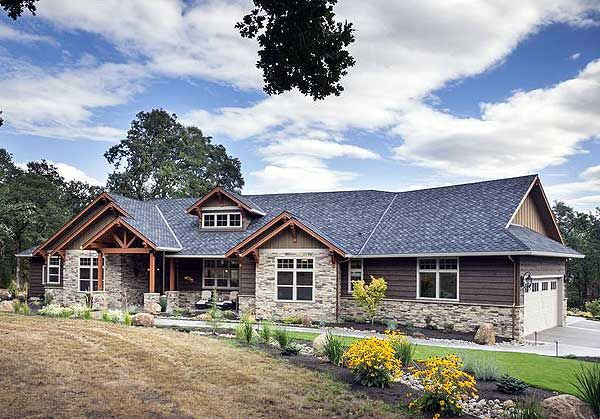 Plan 69582am Beautiful Northwest Ranch Home Plan Ranch Style House Plans Ranch Style Homes Craftsman House