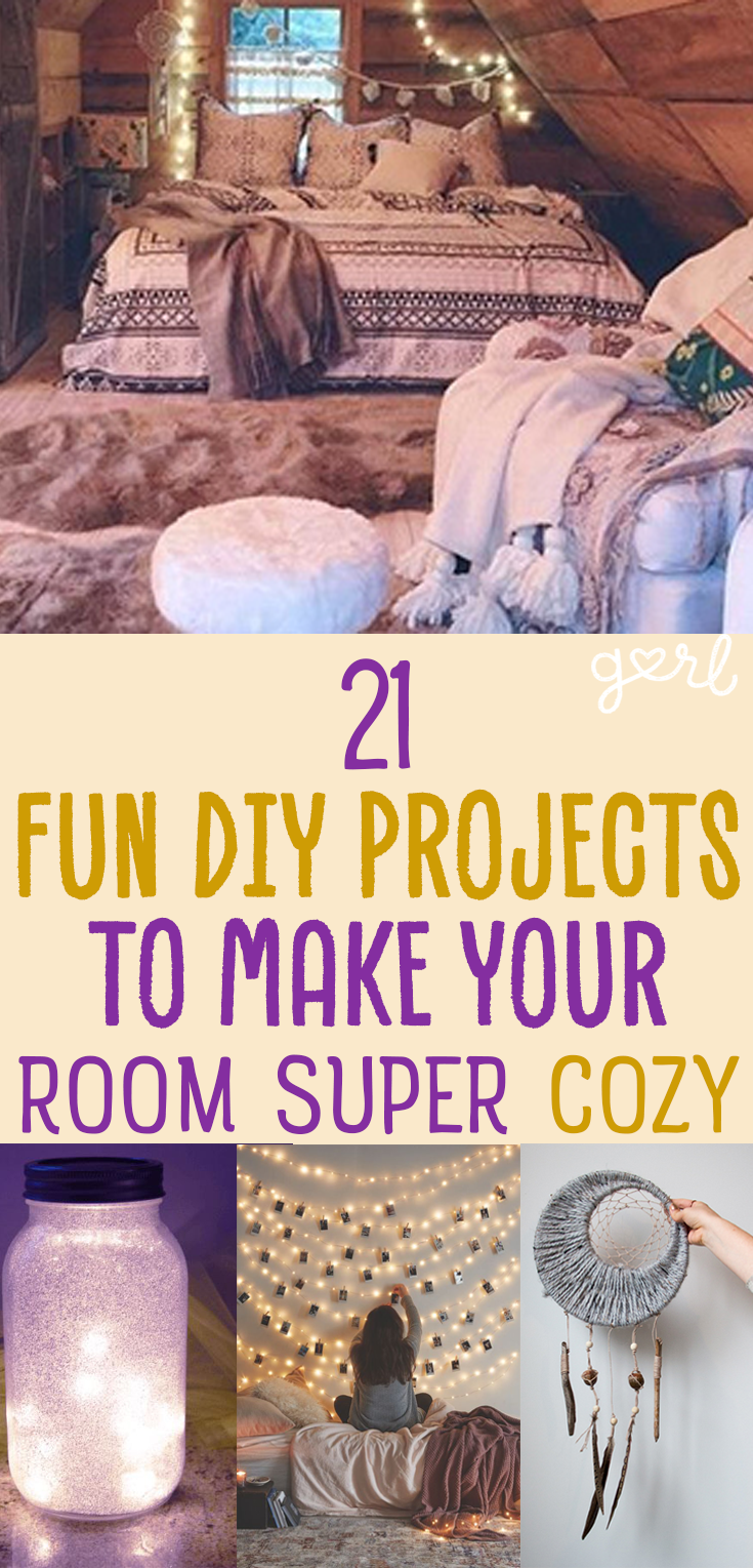 21 Fun DIY Projects That Will Make Your Bedroom More Cozy | Cozy ...
