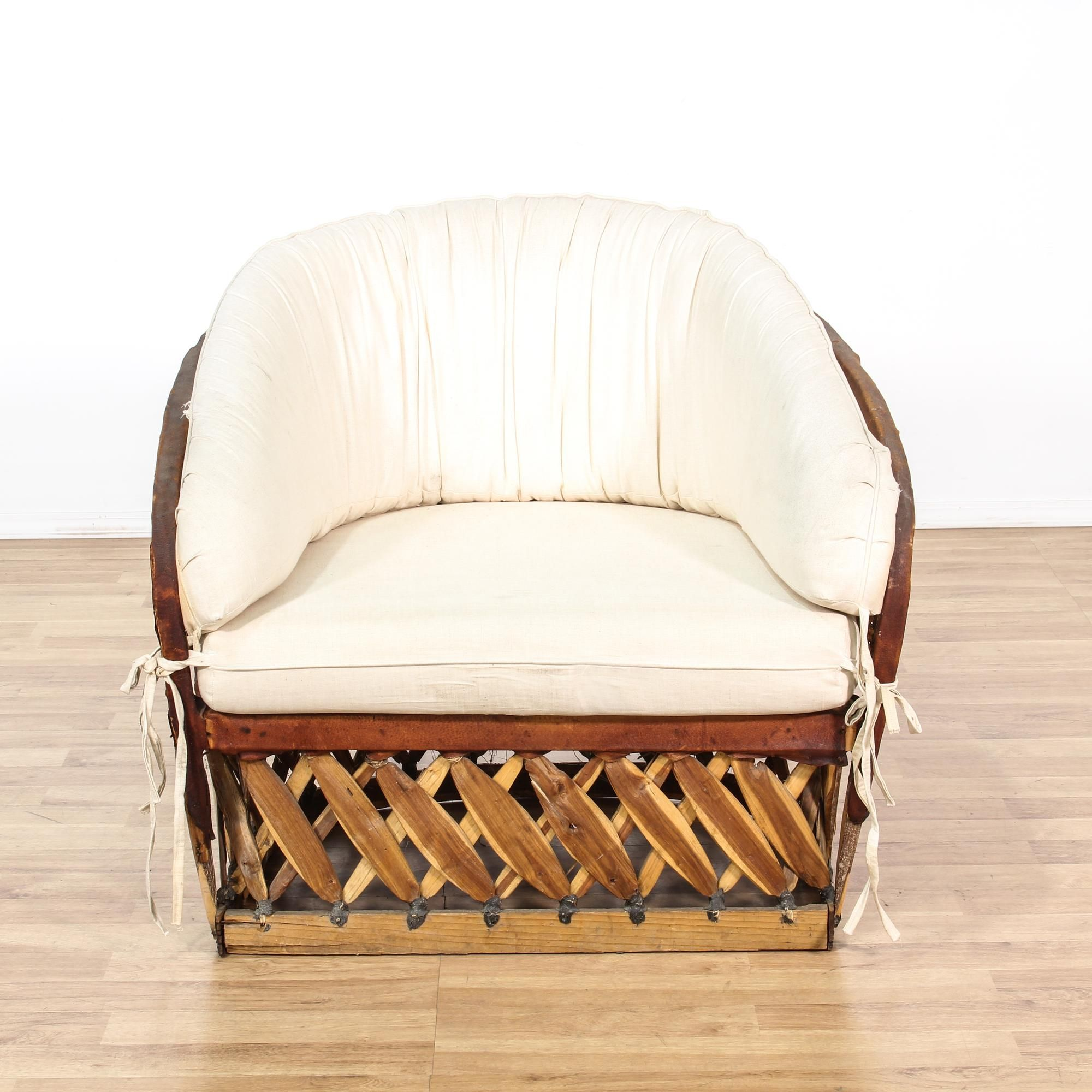 Bamboo & Leather Lined Chair