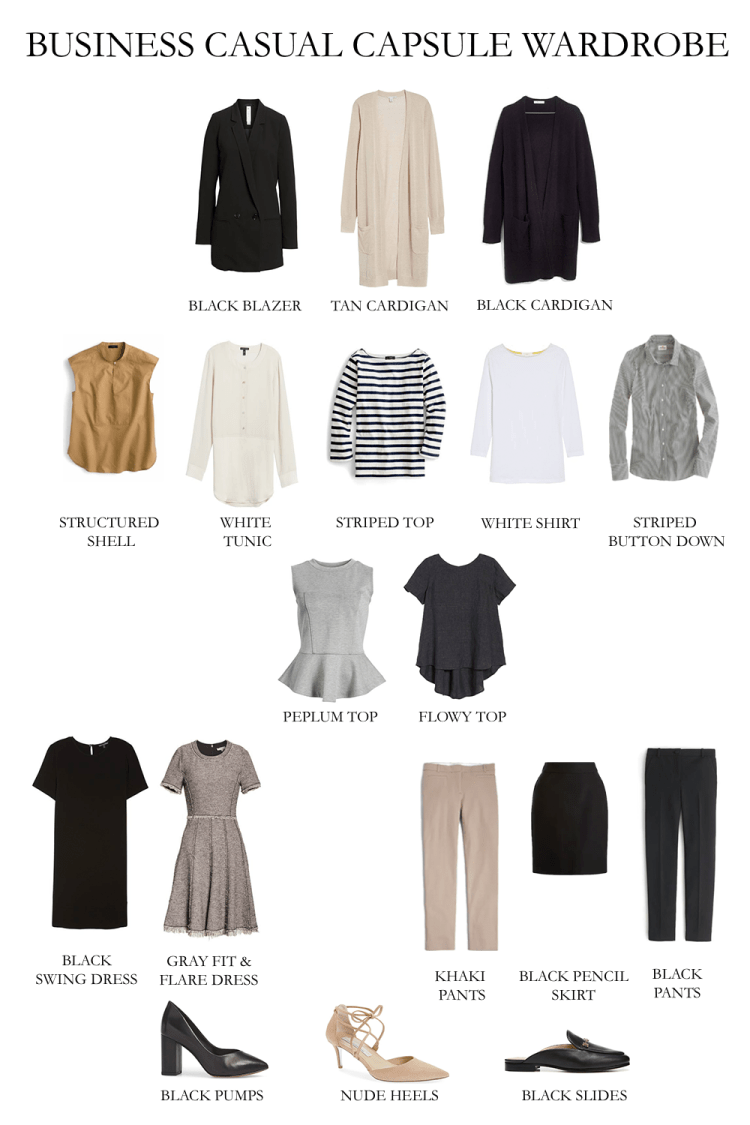 BUSINESS CASUAL CAPSULE WARDROBE - TOO POLISHED