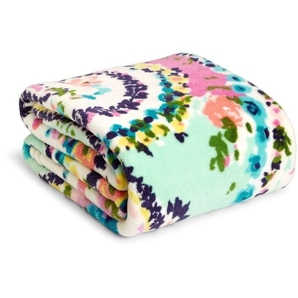 Colorful Throw Blankets Inspiration Vera Bradley Throw Blanket $49 ❤ Liked On Polyvore Featuring Home Review