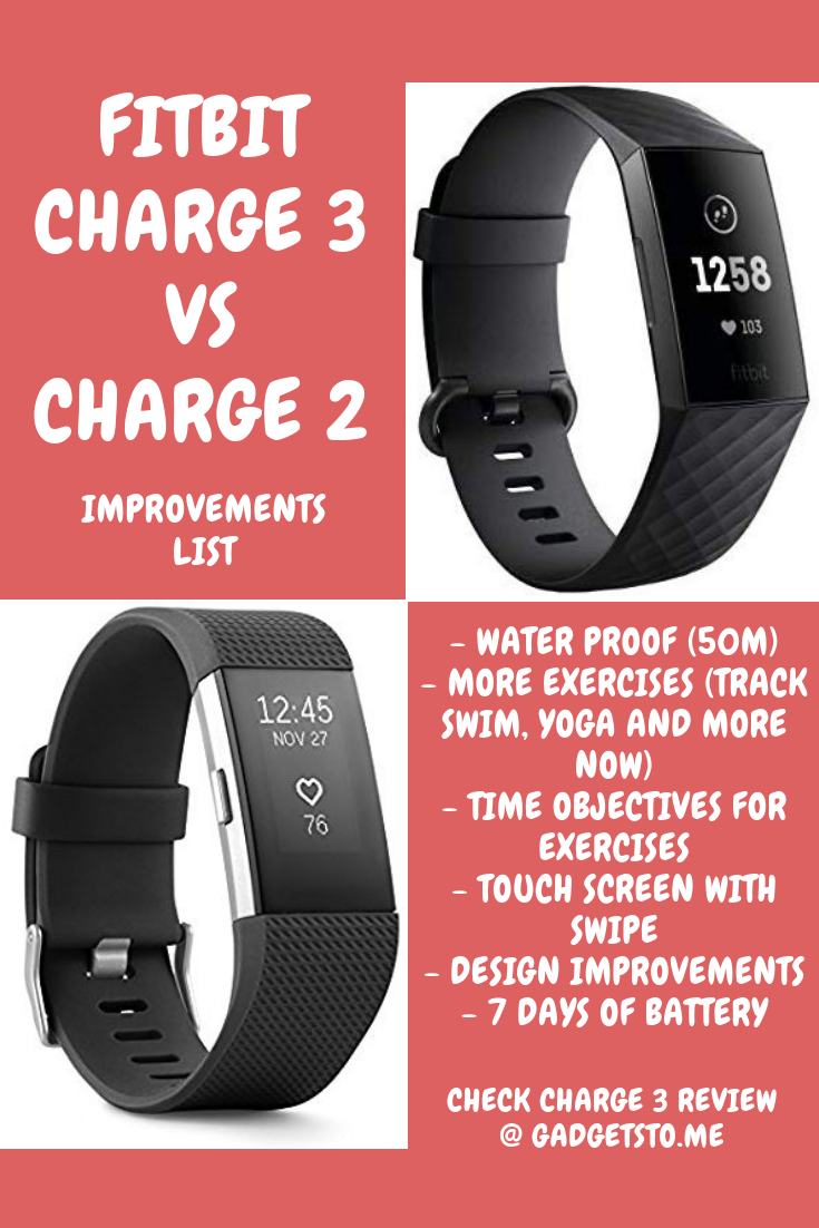 Fitbit Charge 3 VS Fitbit Charge 2 - These are some of the