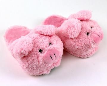 9b6c7150776 Pink Pig Animal Slippers